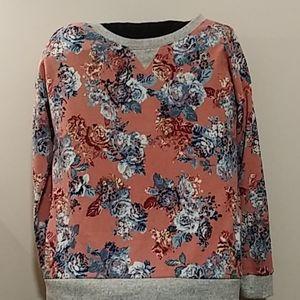 Hippie Rose Lightweight Floral Sweater/Sweatshirt